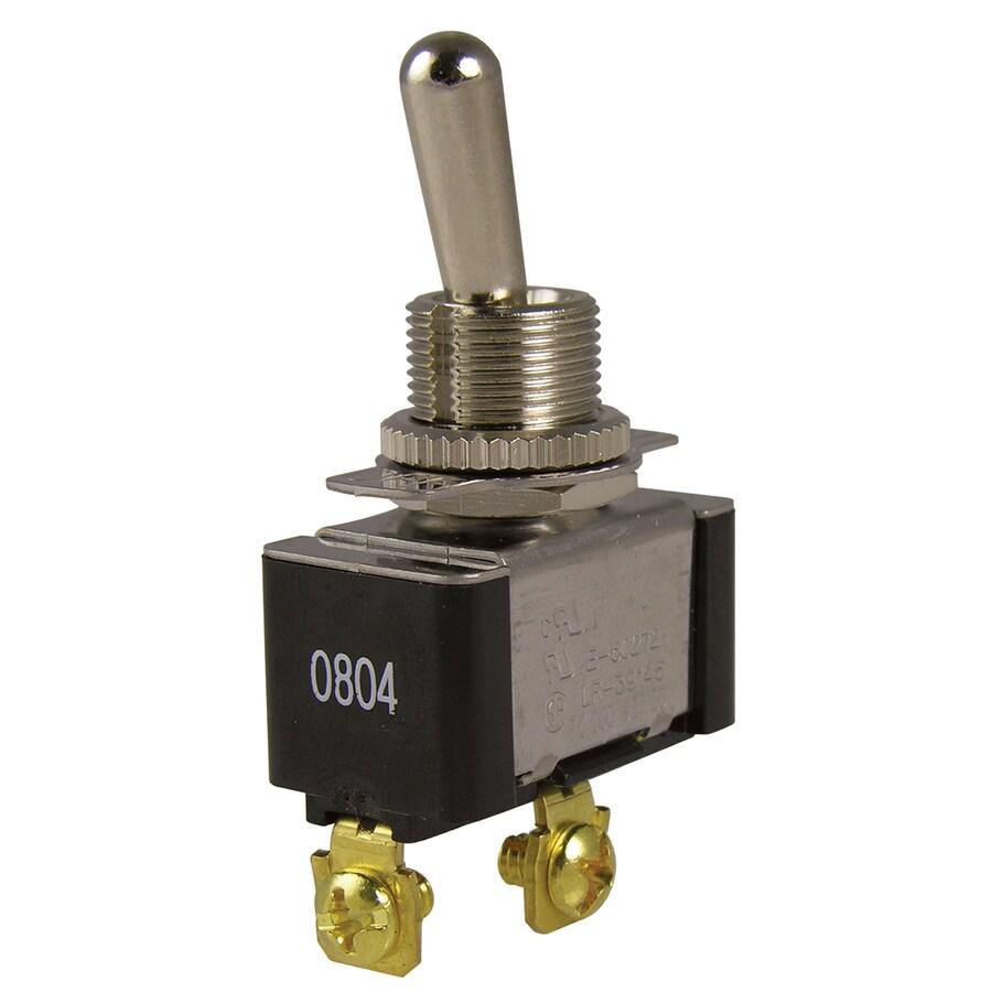 Gardner Bender Single Pole Black/Silver Light Switch