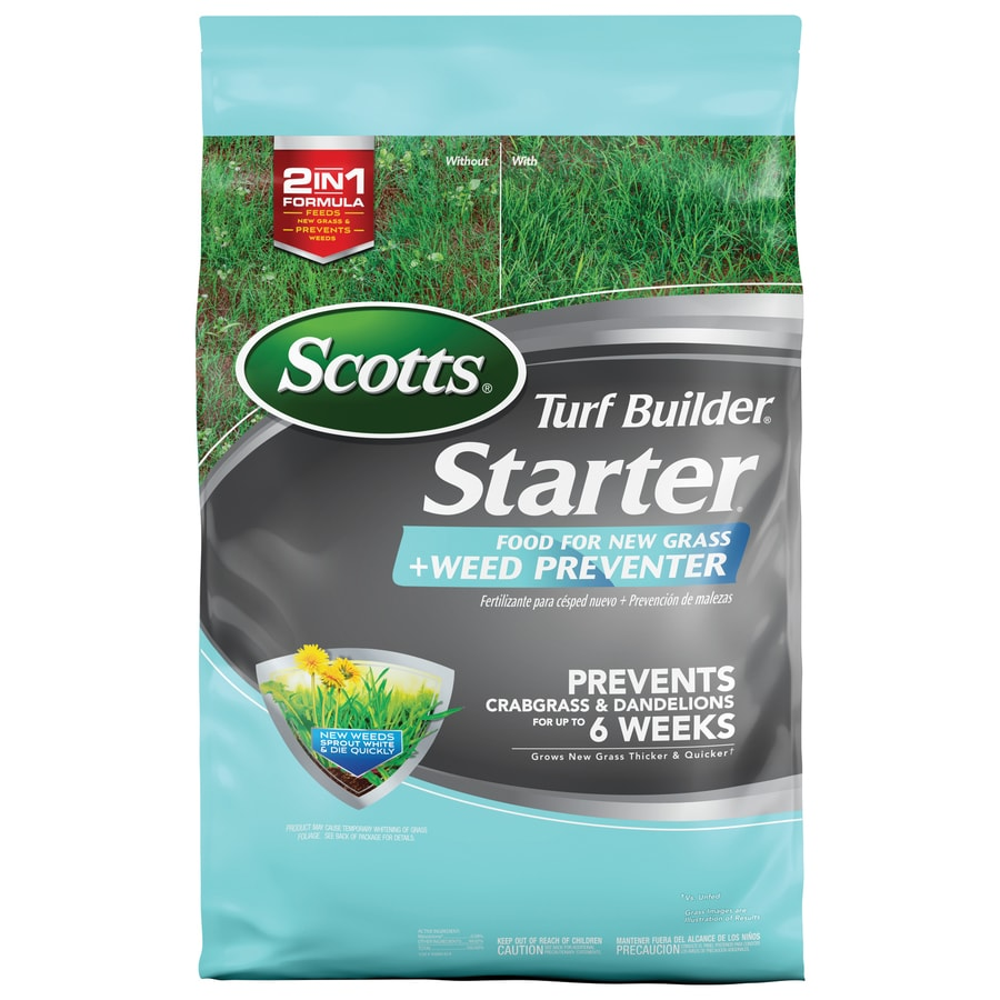 Scotts 5,000-sq ft Starter Plus Weed Preventer Lawn Fertilizer (21-22-4)