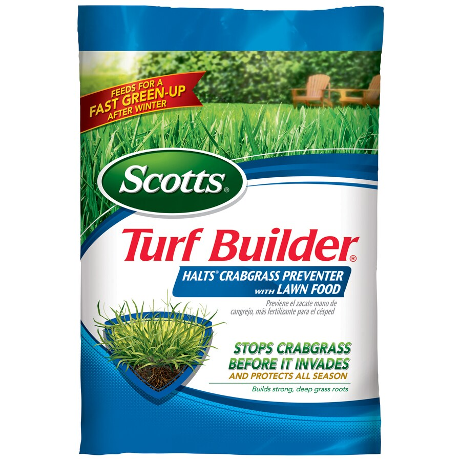 Scotts 5,000-sq ft Turf Builder Halts Crabgrass Preventer with Lawn Fertilizer (30-0-4)