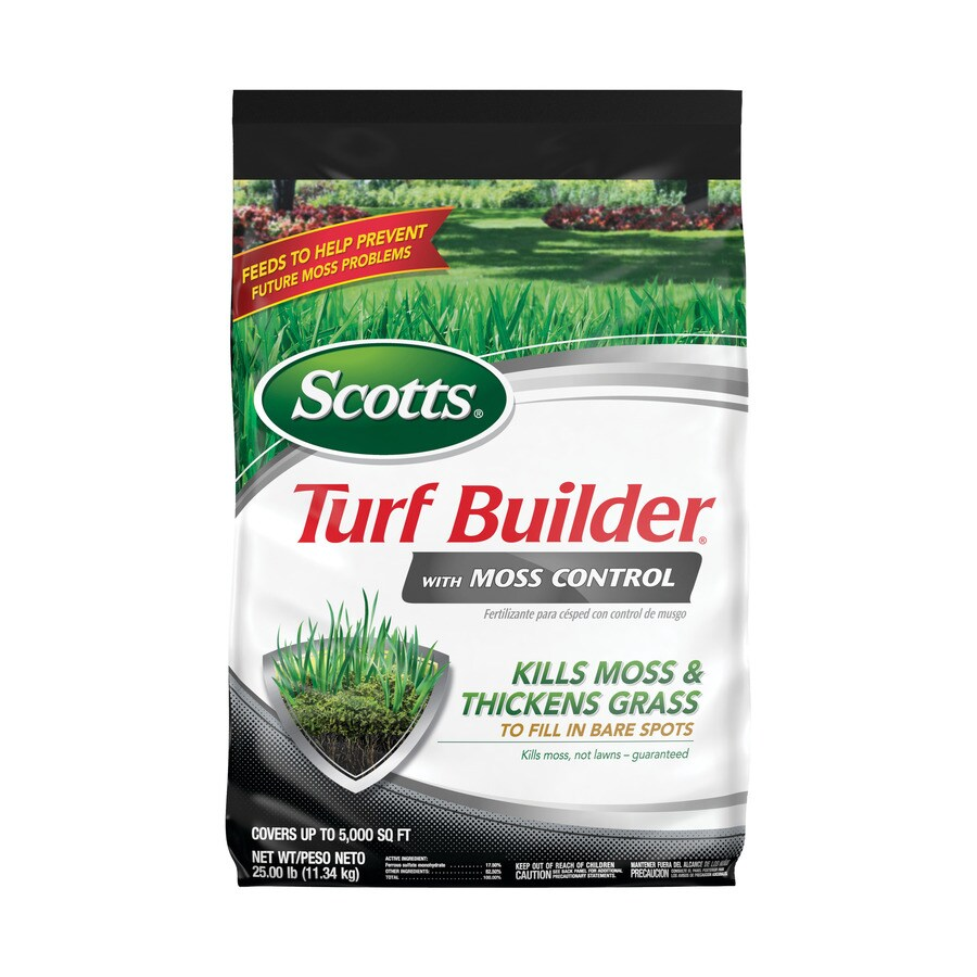 Scotts 5,000-sq ft Turf Builder with Moss Control Lawn Fertilizer (23-0-3)