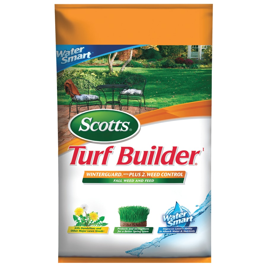 Scotts 15,000-sq ft Turf Builder Winterguard with Plus 2 Weed and Feed Water Smart Fall/Winter Lawn Fertilizer (28-0-10)