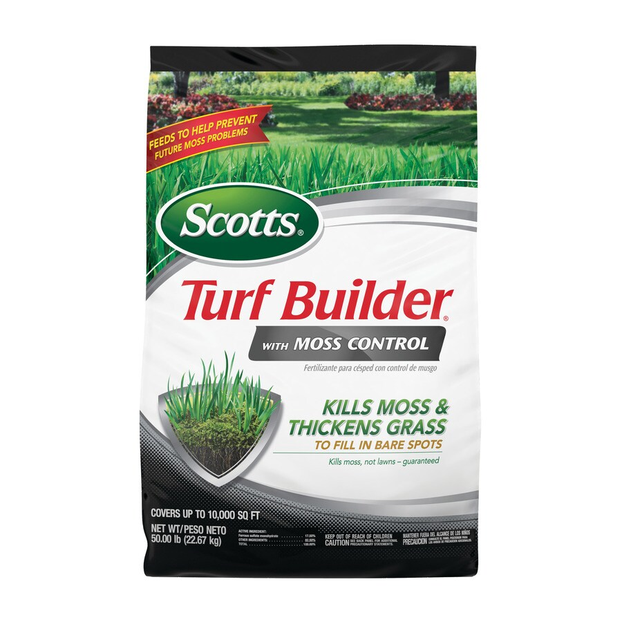 Scotts 10,000-sq ft Turf Builder with Moss Control Lawn Fertilizer (23-0-3)