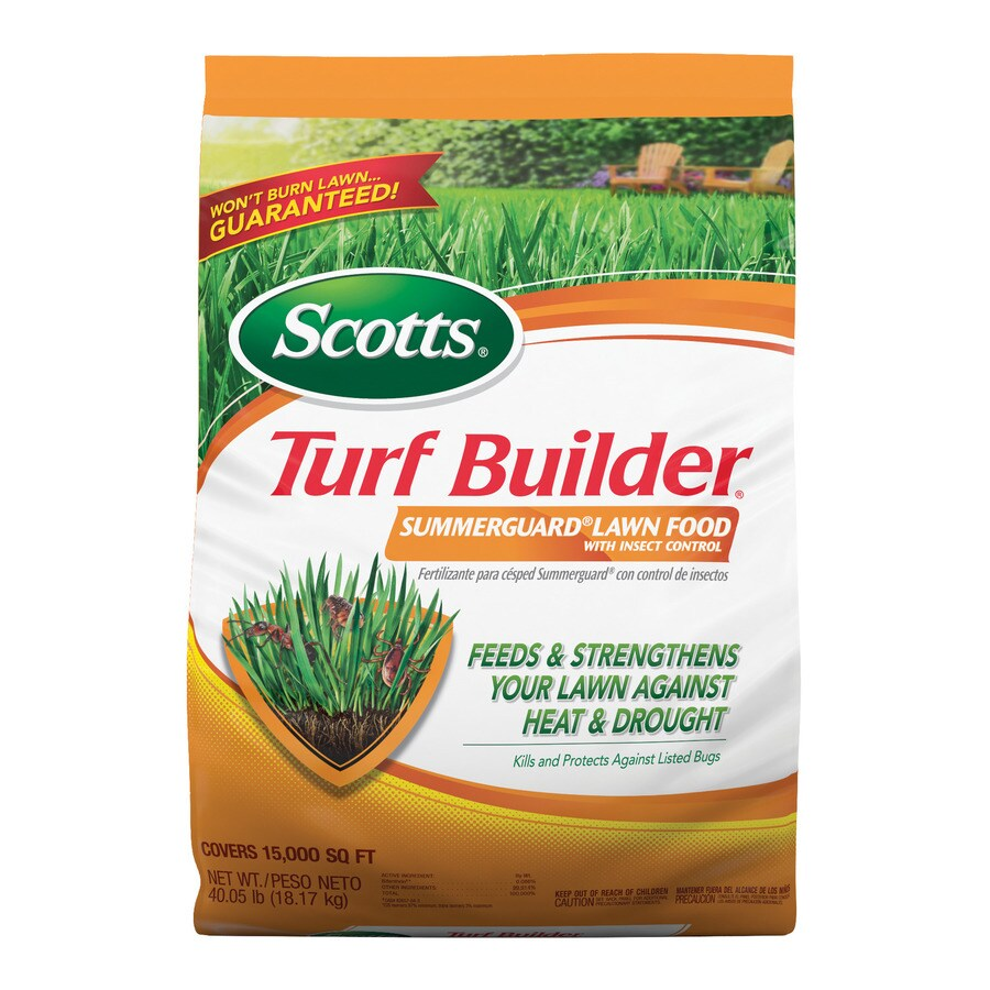 Scotts 15,000-sq ft Turf Builder Summerguard with Insect Control Lawn Fertilizer (20-0-8)