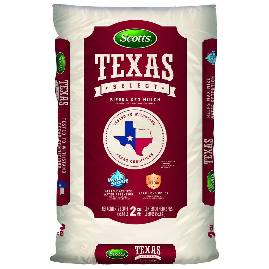 Scotts Texas Select Sierra Red Mulch 2-cu ft Red Hardwood Mulch