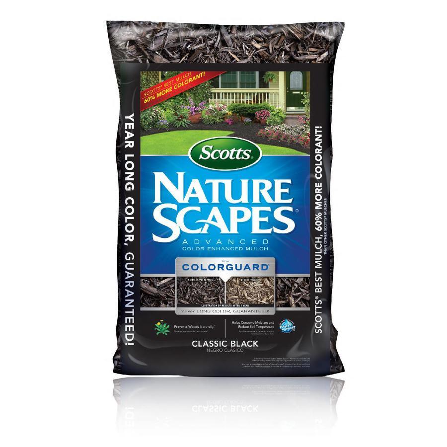 Scotts Nature Scapes Advanced 2-cu ft Black Decorative Bark Mulch