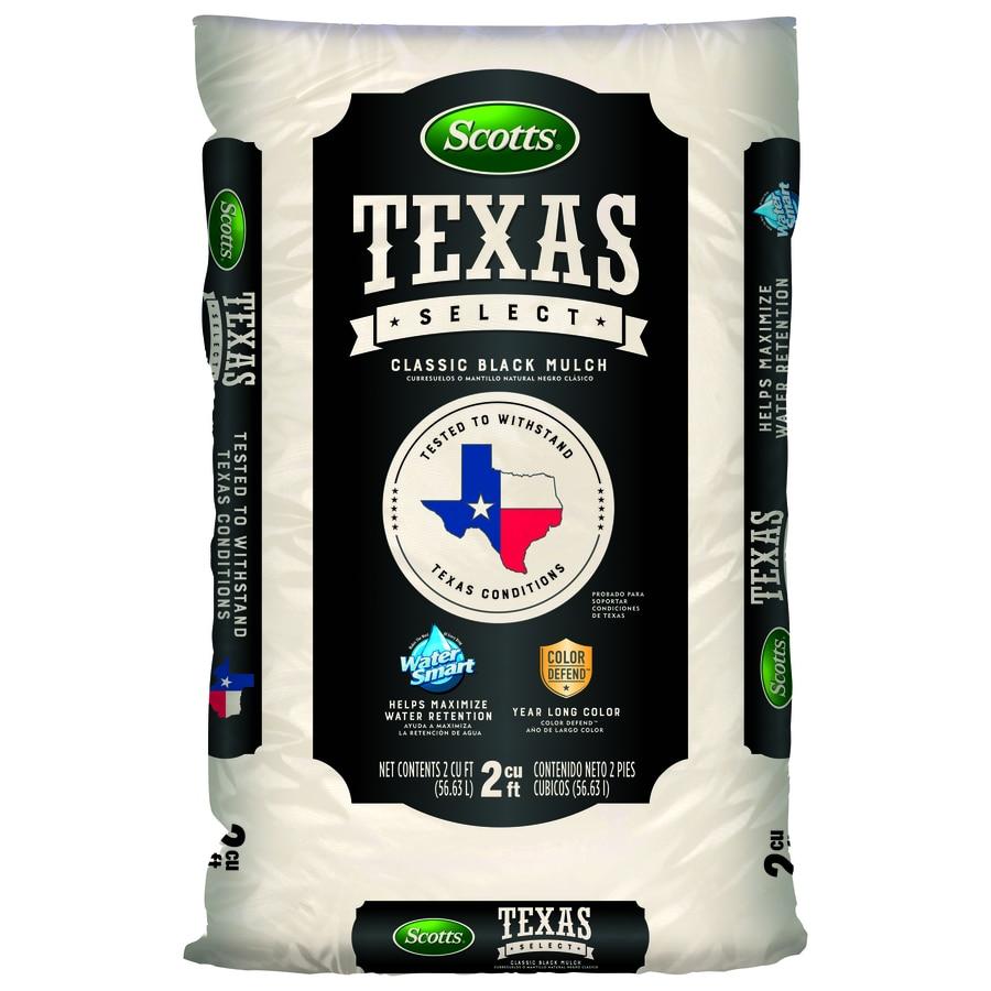Scotts Texas Select Classic Black Mulch 2-cu ft Black Hardwood Mulch