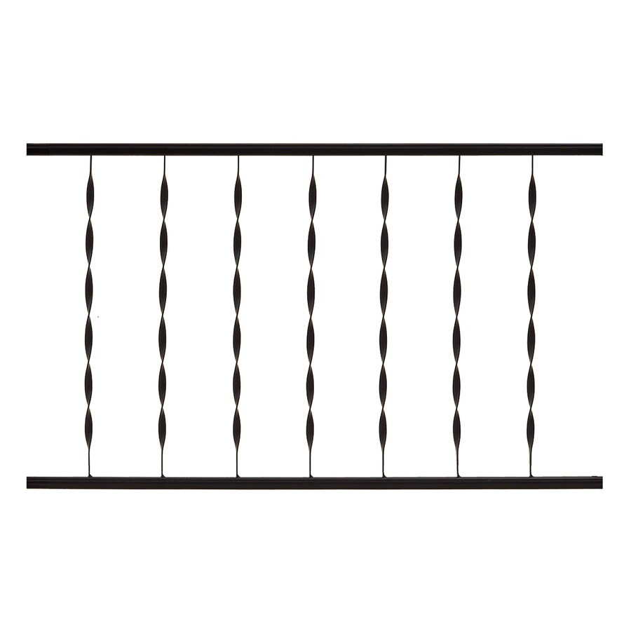 Gilpin Windsor 48-in x 28-in Black Steel Porch Railing