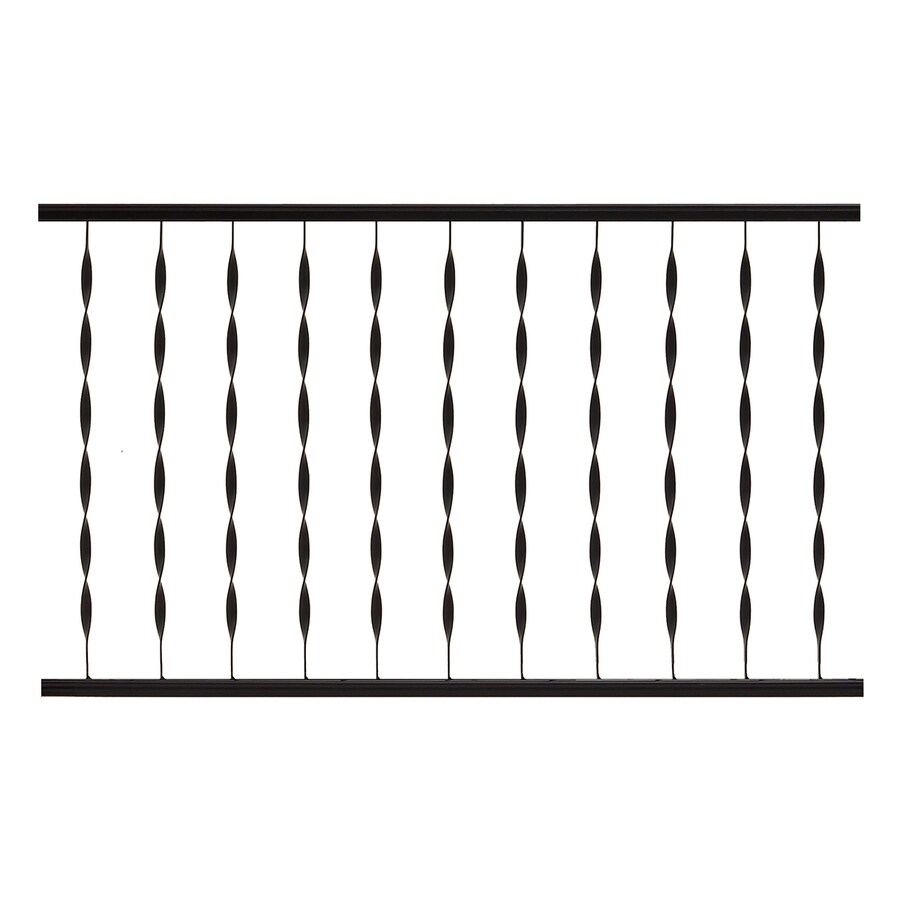 Gilpin Windsor Plus 48-in x 28-in Black Steel Porch Railing