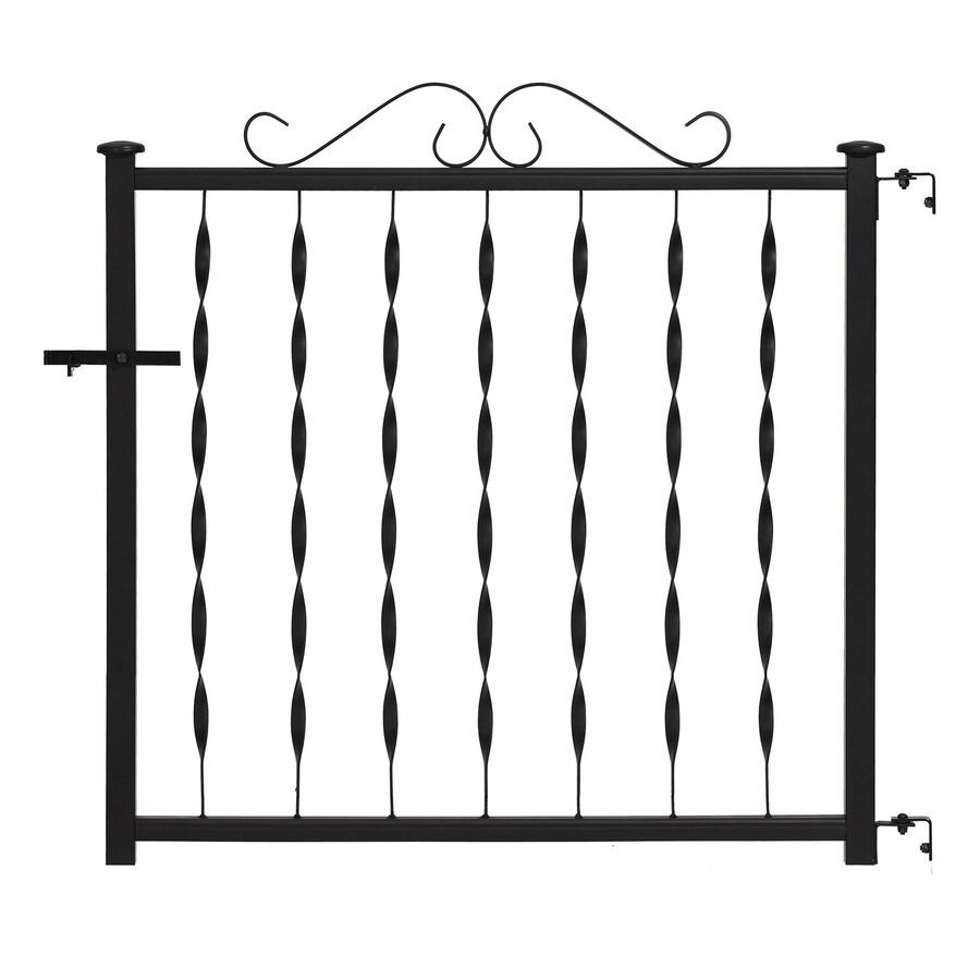 Gilpin Windsor Plus 32.25-in W x 28-in H Steel Porch Railing Gate