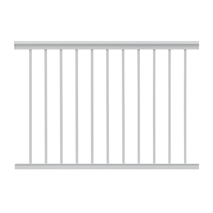 Gilpin Summit 48-in x 39-in White Aluminum Porch Railing
