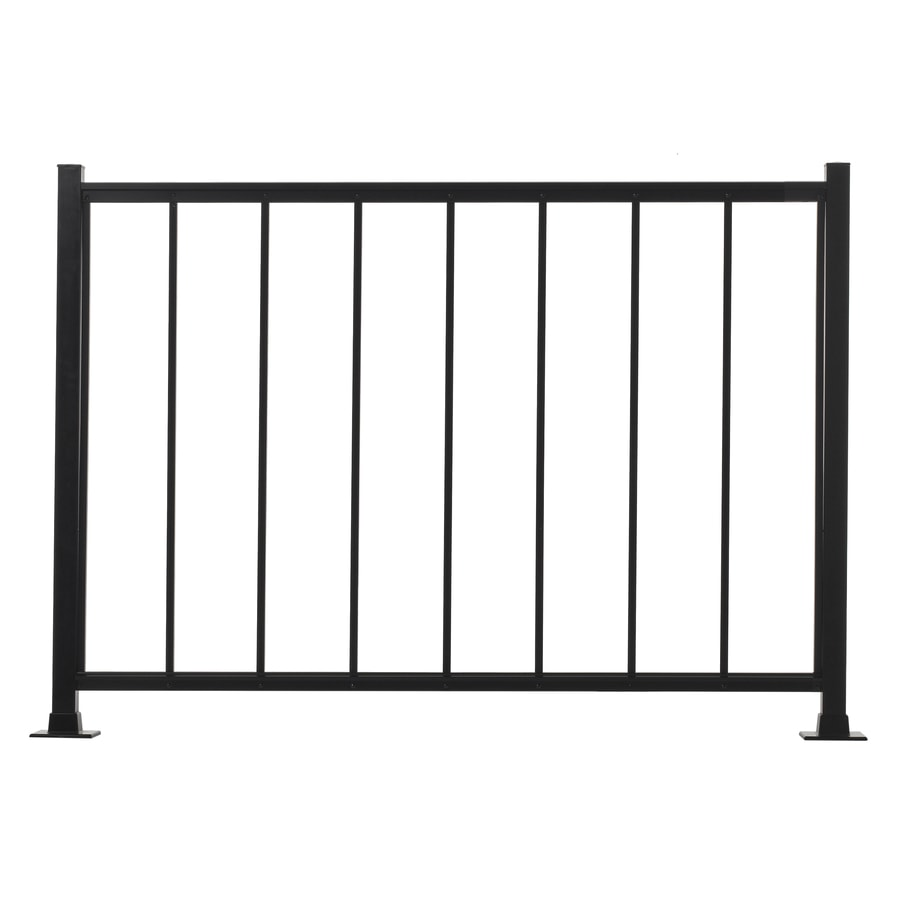 Gilpin 36-in x 48-in Black Aluminum Porch Rail