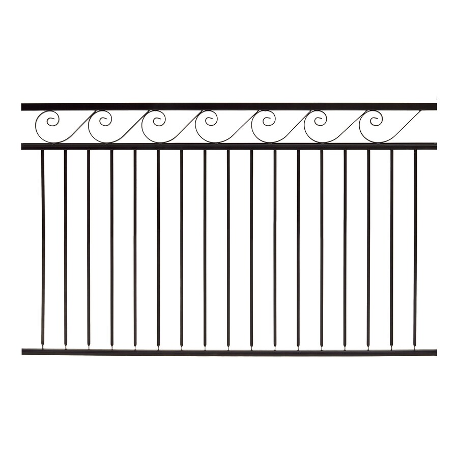 Gilpin Oasis Black Steel Decorative Metal Fence Panel (Common: 6-ft x 4-ft; Actual: 6-ft x 3.75-ft)