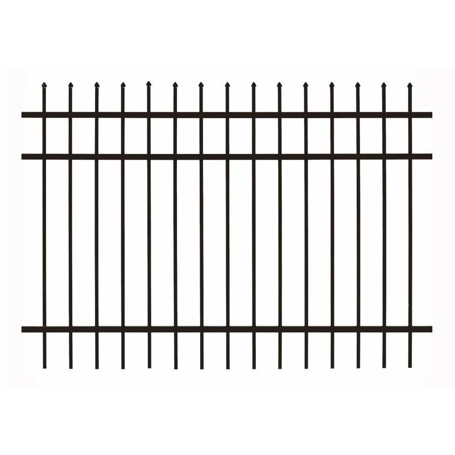 Gilpin Castlegate Standard Black Aluminum Decorative Metal Fence Panel (Common: 6-ft x 5-ft; Actual: 5.93-ft x 5-ft)