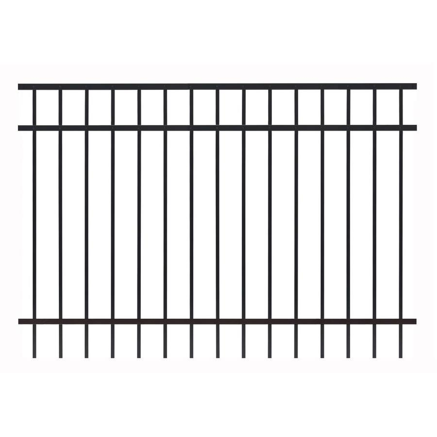 Gilpin Legacy Standard Black Aluminum Decorative Metal Fence Panel (Common: 6-ft x 4-ft; Actual: 5.93-ft x 4-ft)