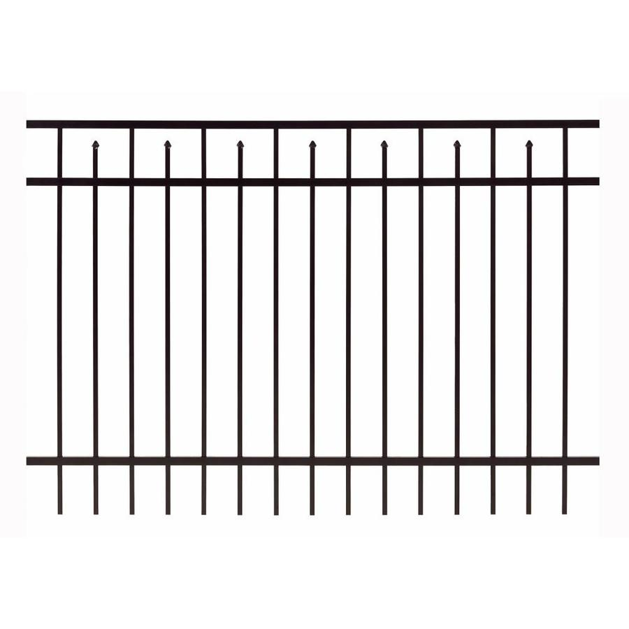 Gilpin Baltimore Standard Black Aluminum Decorative Metal Fence Panel (Common: 6-ft x 3-ft; Actual: 5.93-ft x 3-ft)