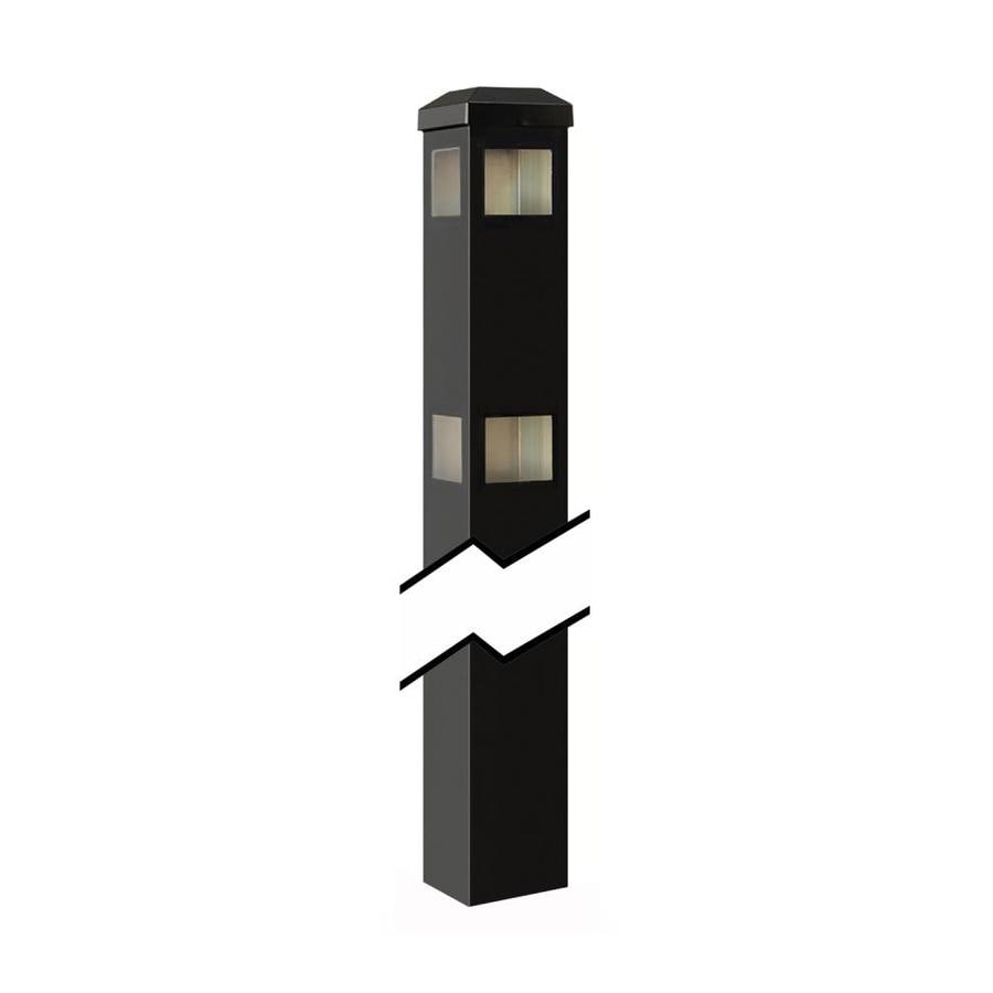 Gilpin Baltimore/Legacy Black Aluminum Decorative Metal Fence Corner Post (Common: 2-in x 2-in x 6-ft; Actual: 2-in x 2-in x 8.83-ft)