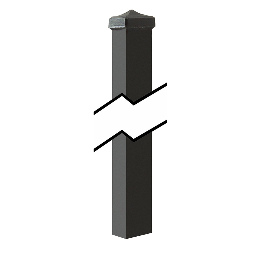 Gilpin Black Steel Decorative Metal Fence Universal Post (Common: 2-in x 2-in x 8-ft; Actual: 2-in x 2-in x 8.00-ft)