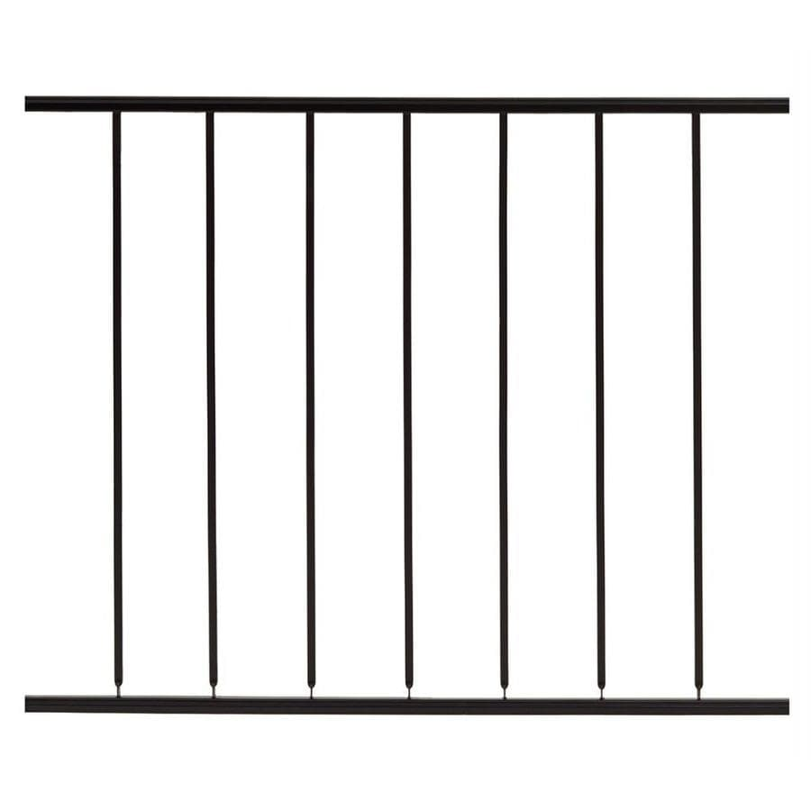 Gilpin Embassy Black Steel Decorative Metal Fence Panel (Common: 4-ft x 3-ft; Actual: 4-ft x 2.6666-ft)