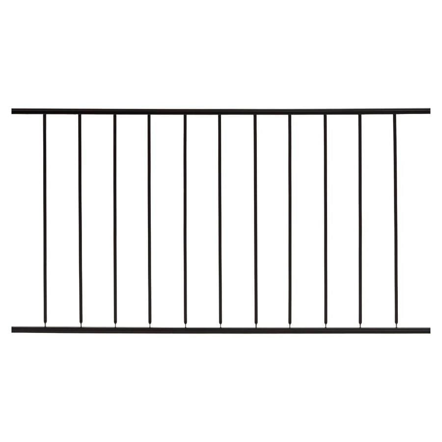 Gilpin Embassy Black Steel Decorative Metal Fence Panel (Common: 6-ft x 3.5-ft; Actual: 6-ft x 3.1666-ft)