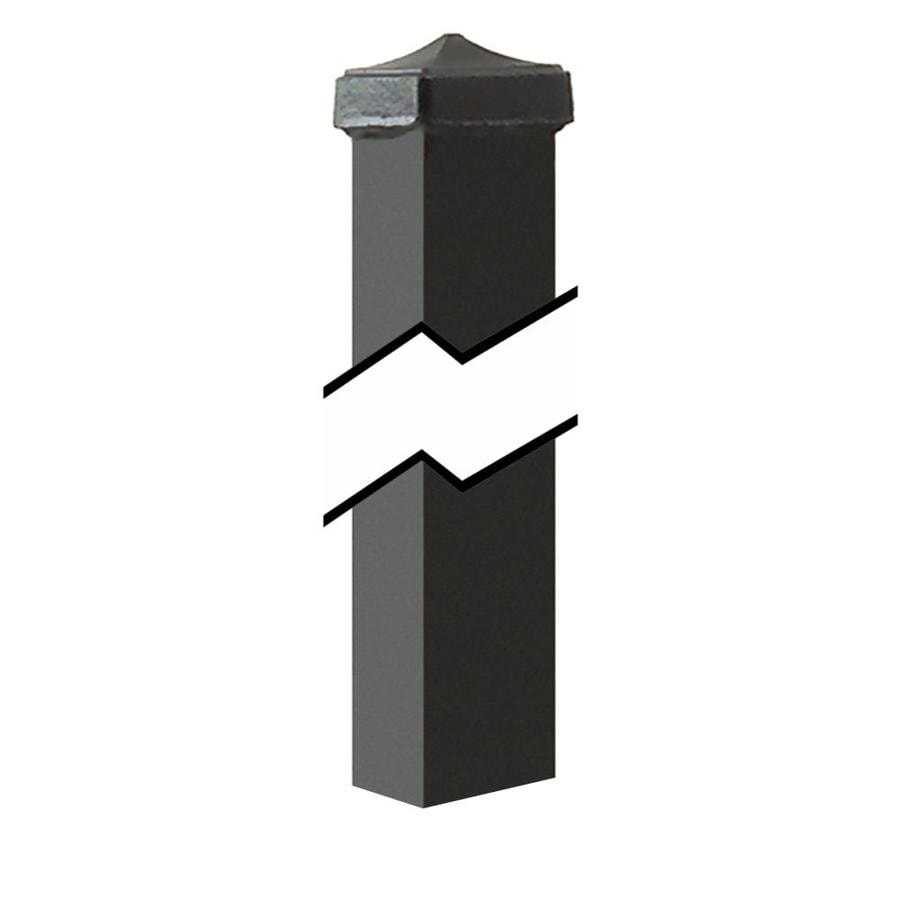 Gilpin Black Steel Decorative Metal Fence Gate Post (Common: 3-in x 3-in x 3-1/2-ft; Actual: 3-in x 3-in x 5.50-ft)
