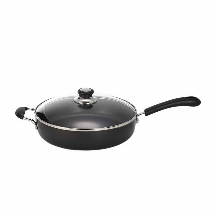 T-fal 2-Piece 12-in Aluminum Cooking Pans with Lids