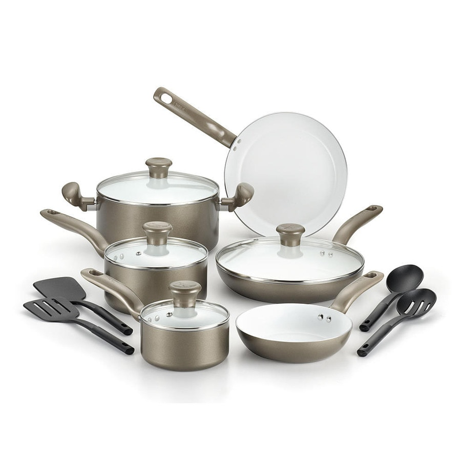 T-fal 14-Piece Initiatives 9.2-in Ceramic Cookware Set with Lid