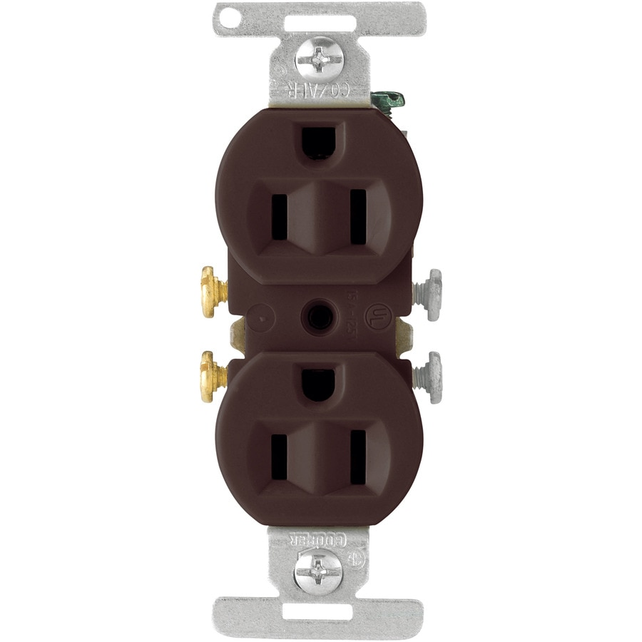 Cooper Wiring Devices 15-Amp Brown Duplex Electrical Outlet