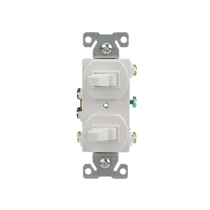 Eaton Single-Pole/3-Way White LED Combination Light Switch in the Light  Switches department at Lowes.comLowe's