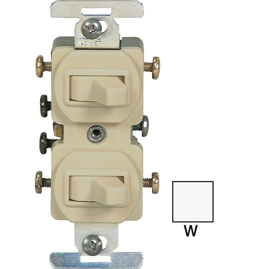 Cooper Combination Light Switch Wiring Free Diagram For You Gfci Shop Devices White At Lowes Com Single Pole