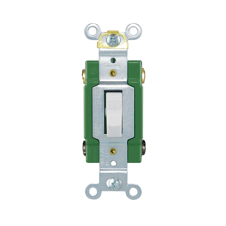 Cooper Wiring Devices Double Pole Ivory Light Switch