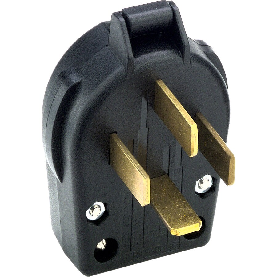 Cooper Wiring Devices 60-Amp 125/250-Volt Black 4-Wire Grounding Plug