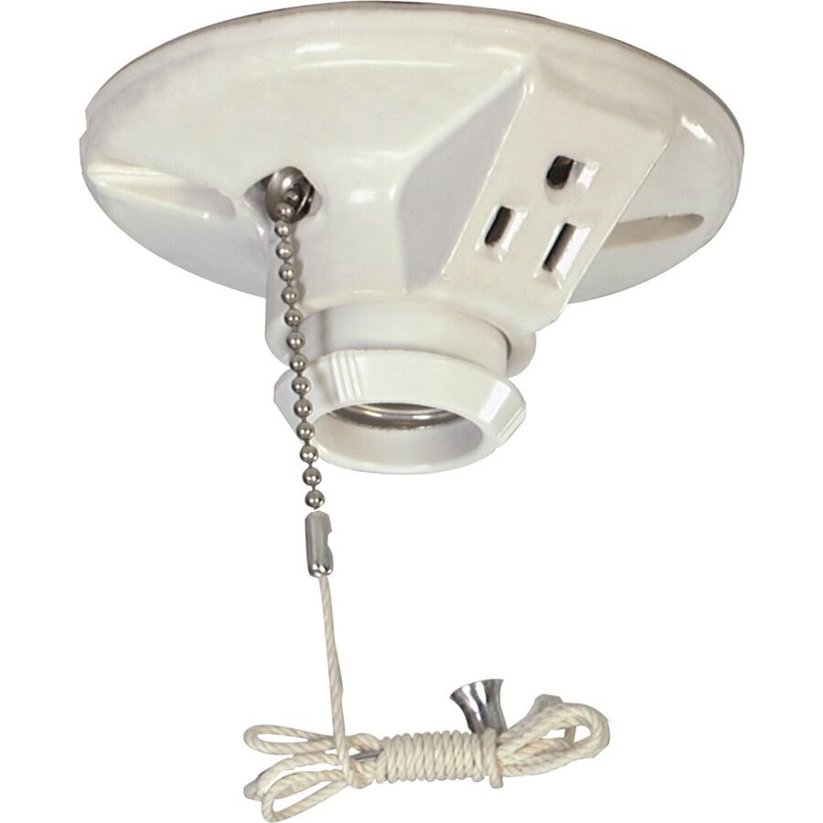 Eaton 660-Watt White Hard-Wired Ceiling Socket