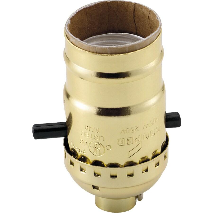 Cooper Wiring Devices 660-Watt Brass Hard-Wired Light Socket