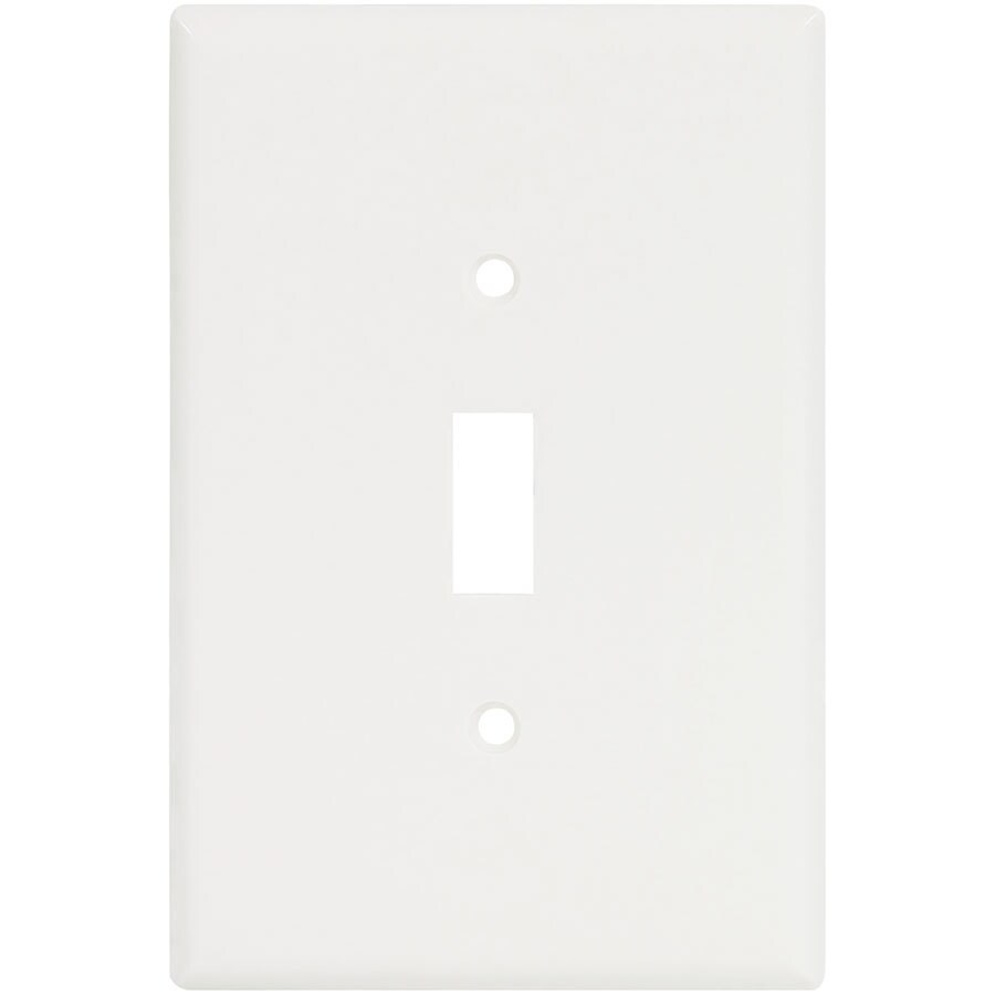 Eaton 1-Gang White Single Toggle Wall Plate