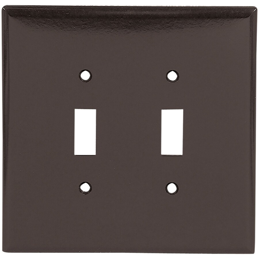 Cooper Wiring Devices 2-Gang Brown Toggle Wall Plate