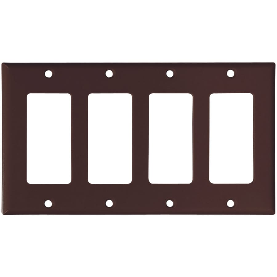 Cooper Wiring Devices 4-Gang Brown Decorator Wall Plate
