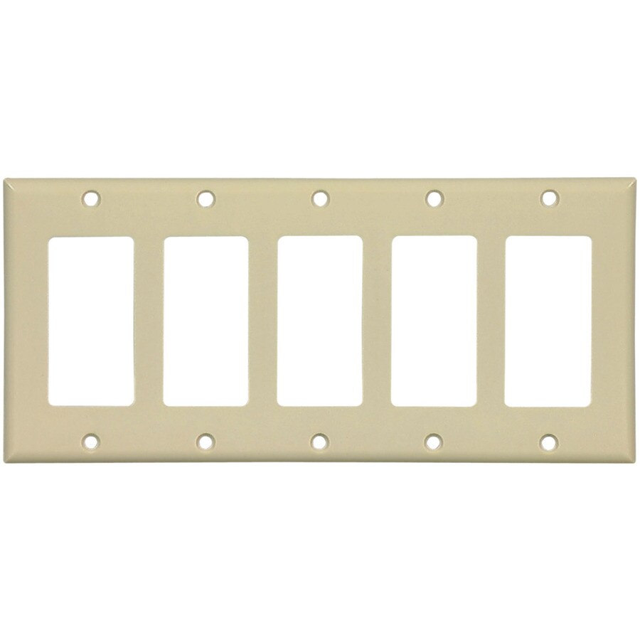 Cooper Wiring Devices 5-Gang Ivory Decorator Wall Plate