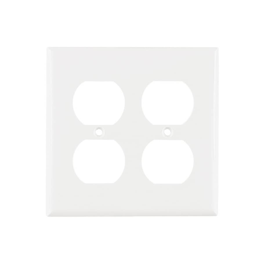 Cooper Wiring Devices 2-Gang White Round Wall Plate
