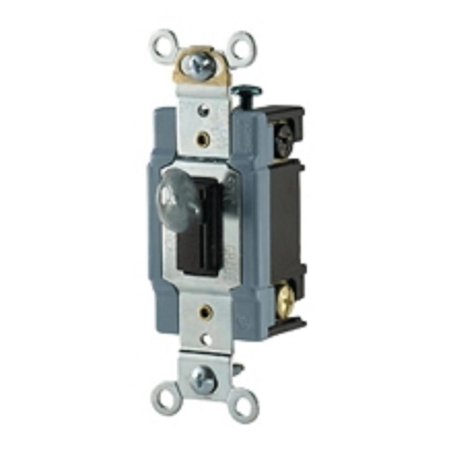 Wiring Double Pole Switch Smart Diagrams Single Throw Shop Cooper Devices Brown Light A Isolating