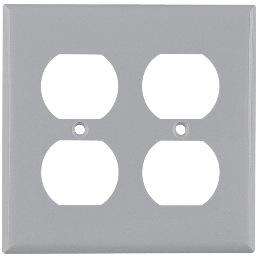 Cooper Wiring Devices 2-Gang Gray Round Wall Plate