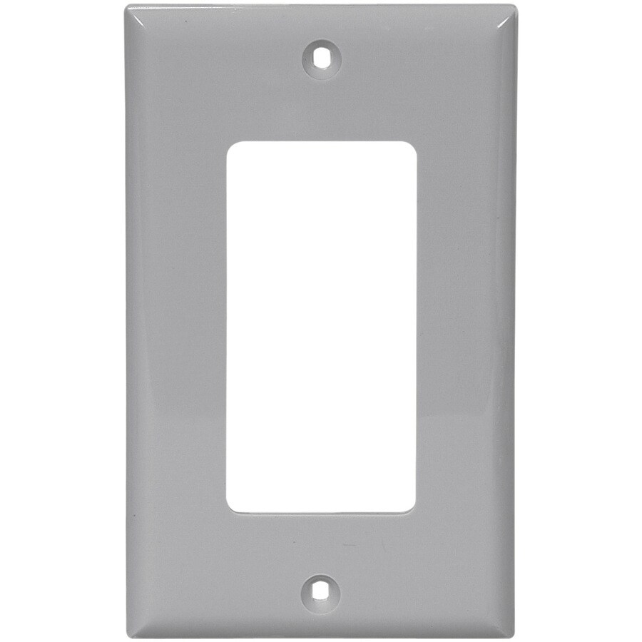 Cooper Wiring Devices 1-Gang Gray Decorator Wall Plate