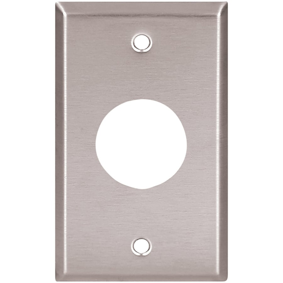 Cooper Wiring Devices 1-Gang Stainless Steel Single Round Wall Plate