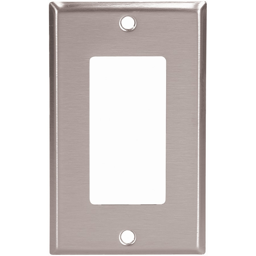 Eaton 1-Gang Stainless Steel Single Decorator Wall Plate