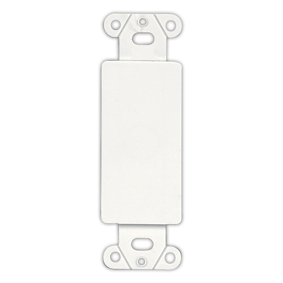 Shop Eaton 1 Gang White Blank Wall Plate Insert At Lowes Com
