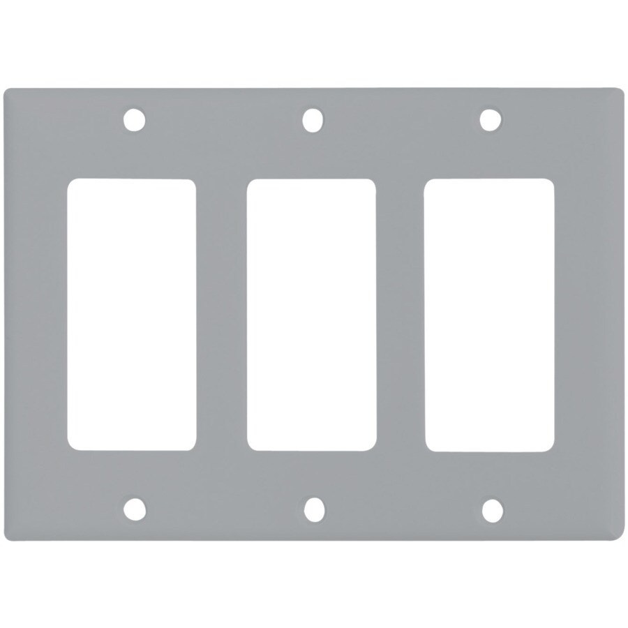 Cooper Wiring Devices 3-Gang Gray Decorator Wall Plate