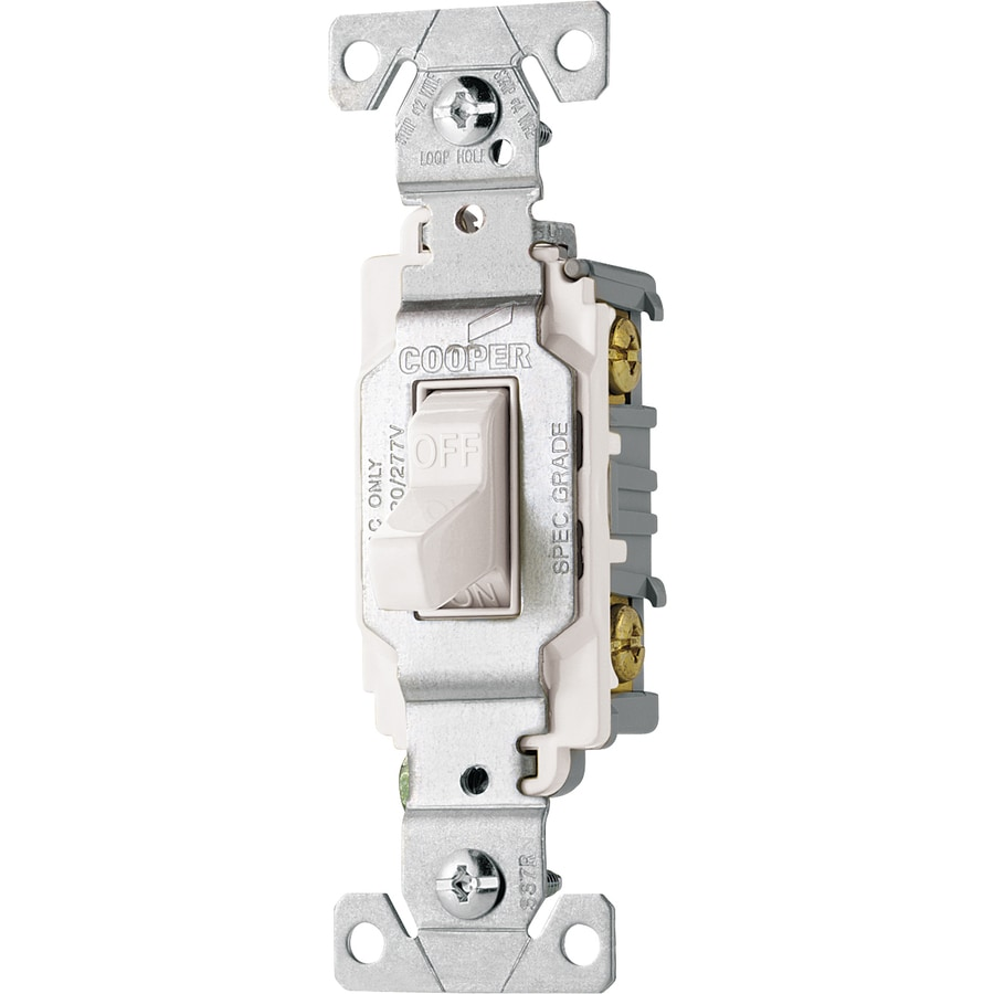 Cooper Wiring Devices Single Pole White Light Switch