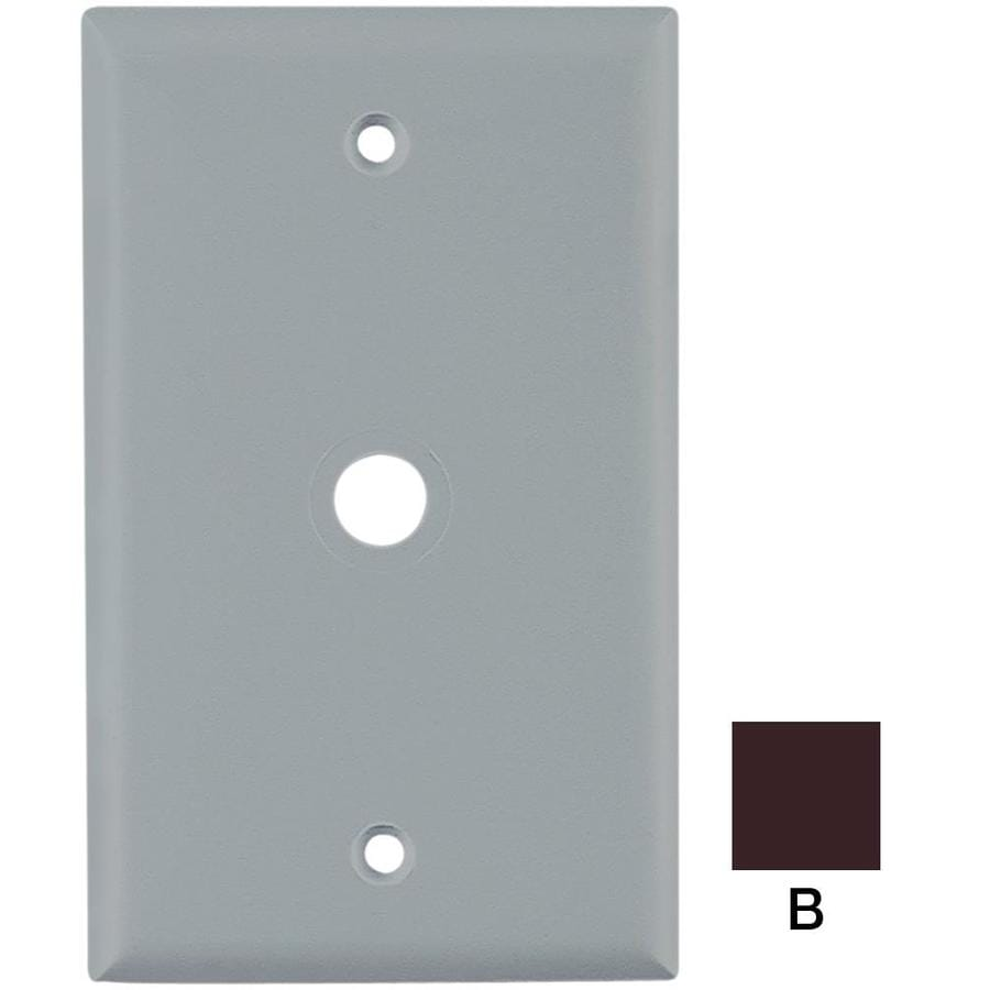Cooper Wiring Devices 1-Gang Brown Coaxial Wall Plate