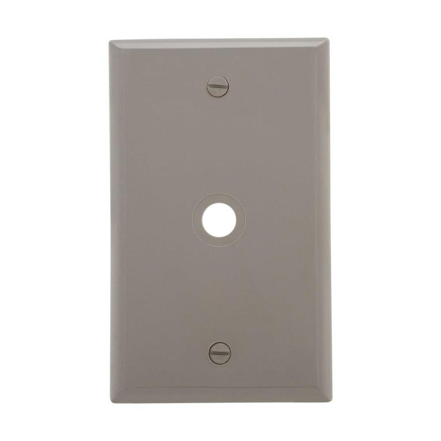 Cooper Wiring Devices 1-Gang Gray Coaxial Wall Plate