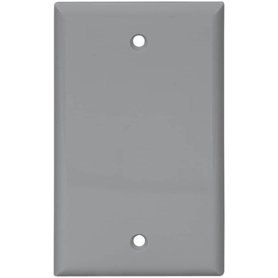 Cooper Wiring Devices 1-Gang Gray Blank Wall Plate