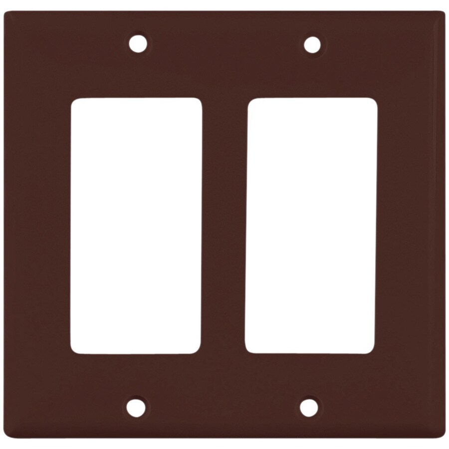 Cooper Wiring Devices 2-Gang Brown Decorator Wall Plate